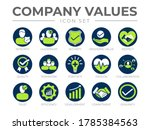company core values round icon... | Shutterstock .eps vector #1785384563