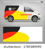 cargo van wrap decal for livery ... | Shutterstock .eps vector #1785389090