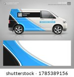 realistic van mockup and wrap... | Shutterstock .eps vector #1785389156