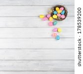 colorful easter egg nest... | Shutterstock . vector #178539200