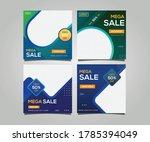 sale post social media banner... | Shutterstock .eps vector #1785394049