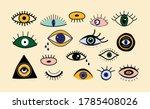 evil eyes set. hand drawn... | Shutterstock .eps vector #1785408026