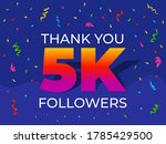 thank you 5000 or 5k followers... | Shutterstock .eps vector #1785429500