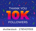 thank you 10000 or 10k... | Shutterstock .eps vector #1785429503