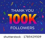thank you 100000 or 100k...   Shutterstock .eps vector #1785429509