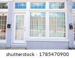 Curtained Door And Windows In ...