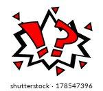 cartoon comic book surprise... | Shutterstock .eps vector #178547396