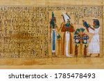 Egyptian Ancient Papyrus With...