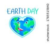 earth day. heart shaped earth...   Shutterstock .eps vector #1785515840