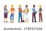 business person woman shaking... | Shutterstock .eps vector #1785527636