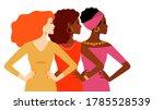 multi ethnic women together....   Shutterstock .eps vector #1785528539