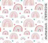 watercolor nursery pink raindow ... | Shutterstock . vector #1785543146