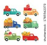 delivery of vegetables  fruits...   Shutterstock .eps vector #1785562373