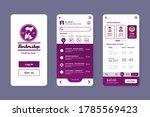 barbershop booking application. ...   Shutterstock .eps vector #1785569423