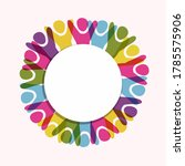 empty white circle frame with... | Shutterstock .eps vector #1785575906