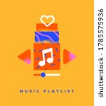 Music Playlist Colorful Flat...