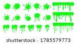 slime drip blob  splatters set. ... | Shutterstock .eps vector #1785579773