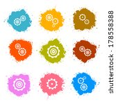 vector cogs   gears colorful... | Shutterstock .eps vector #178558388
