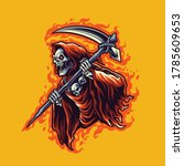Illustration Grim Reaper...