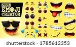 cool emoji creator vector set....   Shutterstock .eps vector #1785612353