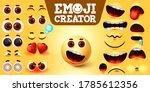 emojis creator happy vector set.... | Shutterstock .eps vector #1785612356