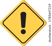 hazard warning sign     with an ... | Shutterstock .eps vector #1785647219
