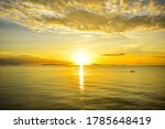 Beautiful Golden Sunset In...