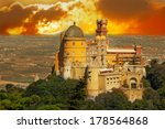 aerial view of palace da pena.... | Shutterstock . vector #178564868