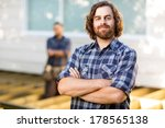 portrait of confident mid adult ...   Shutterstock . vector #178565138