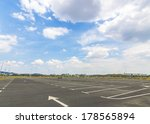 empty parking lot with blue... | Shutterstock . vector #178565894