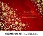 christmas background   with... | Shutterstock .eps vector #17856631