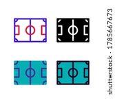 simple soccer field icon design ...