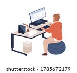 male office worker sitting on... | Shutterstock .eps vector #1785672179