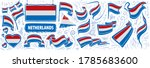 vector set of the national flag ... | Shutterstock .eps vector #1785683600