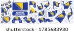 vector set of the national flag ... | Shutterstock .eps vector #1785683930