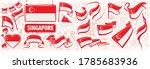 vector set of the national flag ... | Shutterstock .eps vector #1785683936