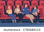 happy family sitting at movie... | Shutterstock .eps vector #1785684113