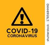banner covid  19. coronavirus... | Shutterstock .eps vector #1785684440
