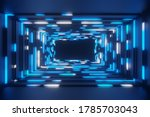 Abstract Animation Neon Blue...
