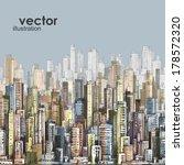 cityscape. hand drawn vector | Shutterstock .eps vector #178572320
