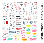 handdrawn colored pen marker...   Shutterstock .eps vector #1785734603