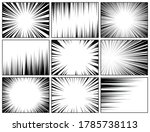 comic book radial lines... | Shutterstock .eps vector #1785738113