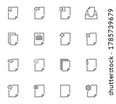 ui documents line icons set ...