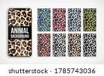 trendy leopard abstract... | Shutterstock .eps vector #1785743036