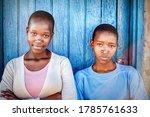 Tw African Girls Standing...