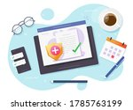 life insurance policy  health...   Shutterstock . vector #1785763199