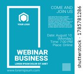 invitation banner to the online ... | Shutterstock .eps vector #1785781286