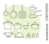 cooking supplies. collection of ... | Shutterstock .eps vector #1785792953