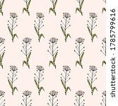 seamless pattern of flowers and ... | Shutterstock .eps vector #1785799616