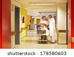 Corridor In Hospital With Nurse ...
